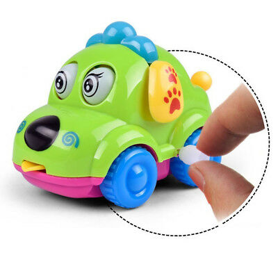 Cute Cartoon Running Car Wind Up Toy Clockwork Classic Baby Toddler Kids Toy