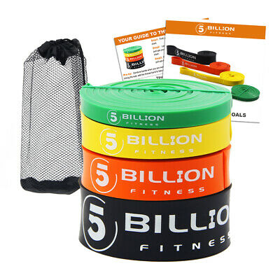 5BILLION Latex Resistance Streching Band - Pull Up Assist Bands Exercise Bands