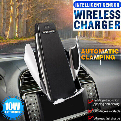 AU Automatic Clamping Wireless Car Charger Vent Mount Phone Charging Holder Dock