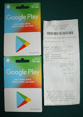 Google Play $500 Gift Card UNSCRATCHED & SEALED (100% positive seller) FREE SHIP