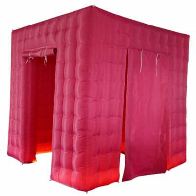 Pink Inflatable Photo Booth 2.5m Cube Inflatable LED Backdrop for Party Events
