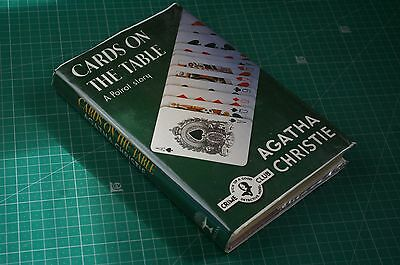 Cards on the Table [Poirot Crime Club] - Agatha Christie:  1990 HB DJ VGC+