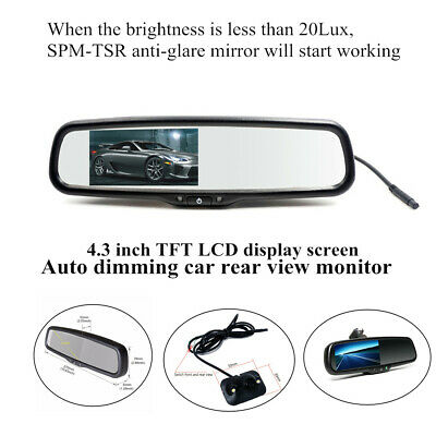 "4.3"" 12V Auto Dimming TFT LCD Rear View Mirror Device w/Rear Camera Night Vision"