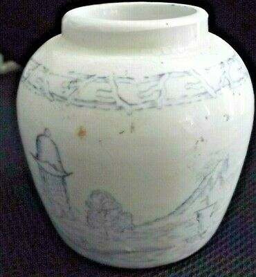 Qing Dynasty Ginger / Tea Jar / Hand painted ! 17th. Century ?