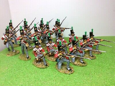1/32 Napoleonic British Light Infantry x19.A Call To Arms.Well painted and based