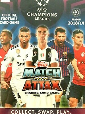 MATCH ATTAX 2018/19 CHAMPIONS LEAGUE SWAPS  or  BUY  MINT CONDITION