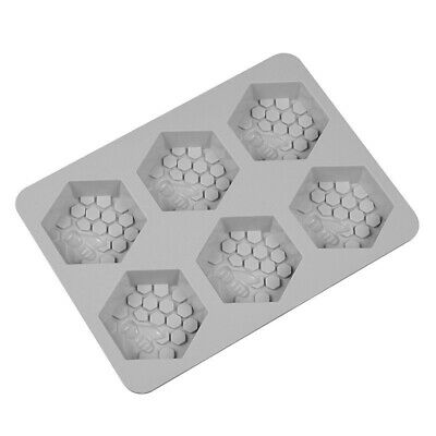 Food-grade Silicone Mould 6 Hole Honey Bee Design Soap Mold