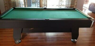 Pool Table 8Ft Pub Size Snooker Billiard Table Green - Used