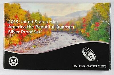 2013-S America the Beautiful Quarters Silver Proof Set (Quarters only)