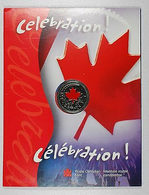 2004 Uncirculated Canada Day 25c - Celebration! - Colorized  - LOW MINTAGE!