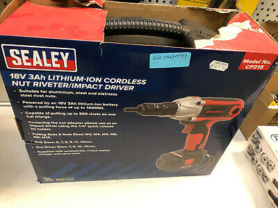 Sealey 18V 3Ah Lithium-Ion Cordless Nut Riveter/Impact Driver – MPN: CP315