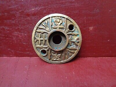 """per Each 2 1//16/"""" dia Polished Ogee Stamped RED BRASS ONE door knob rosette"""