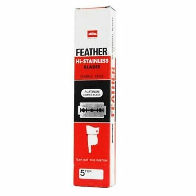 FEATHER Hi-Stainless Blades | DOUBLE EDGE Razor | Premium Safety DE | Black