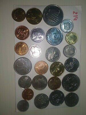 25 Coins Unc From Different Countries According To Photo Lot Offer 25 Monedas