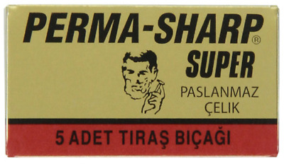 Perma Sharp Super | Double Edge Razor Blades |  Premium Perma-Sharp Safety DE