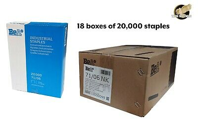 71/06 Series Staples by BEA - FULL CARTON - 20,000 staples x 18 boxes