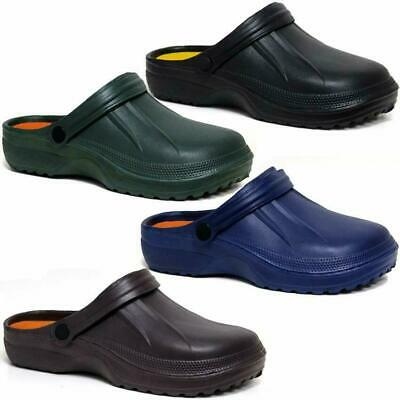 Mens Clogs Mules Slipper Nursing Garden Beach Sandals Hospital Rubber Pool Shoes