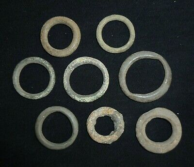 Lot of 8 CELTIC Ancient Coin Bronze Ring / Proto Money - Circa 600-400 BC   /900