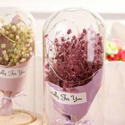 Creative Starry Dried Flower Bouquet Wishing Bottle Valentine's Day Gift D2
