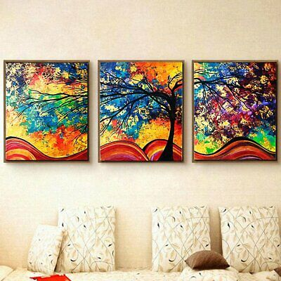 10749 Colorful Trees of Prosperity Painting Wall Art Modern Unframed Picture D2
