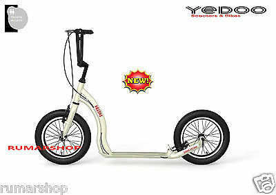 YEDOO ALLOY SCOOTER ROLLER STEP NEW NEU MODEL FRIDAY 16/16 cream