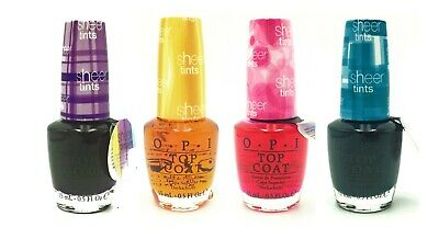 OPI Nail Polish Full Size Lacquer - Sheer Tints Top Coat - CHOOSE YOUR COLOR!