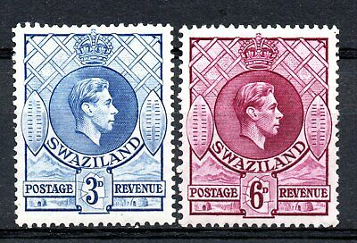 Swaziland  1938 SG32b  &  SG34b  Two nice mint examples    Cat.value £14.00
