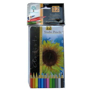 Artists Pencils  - 12 Pack - Graded, Colouring (Tin Packs) or 18 Pack Mixed