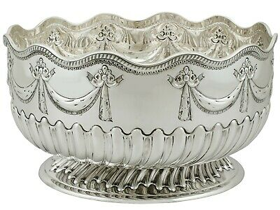 Antique Victorian Sterling Silver Bowl London Ollivant & Botsford 1886
