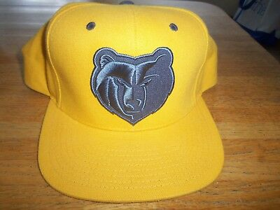 reputable site 6b7a1 3fee3 EUC Mitchell   Ness Memphis Grizzlies Logo Snapback Cap - Yellow - High  Profile