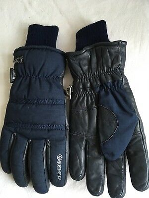 Hi-Gear Cow Hide Leather And Gore Thermal  Lined Unisex Mittens Gloves Size 9.5