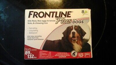 Frontline Plus for Extra Large Dogs Flea and Tick 89-132 Lbs  - 8 Doses