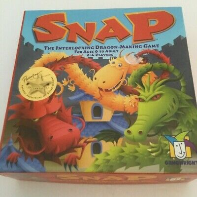 Gamewright  SNAP Board game  Interlocking dragon games ages 6-adult
