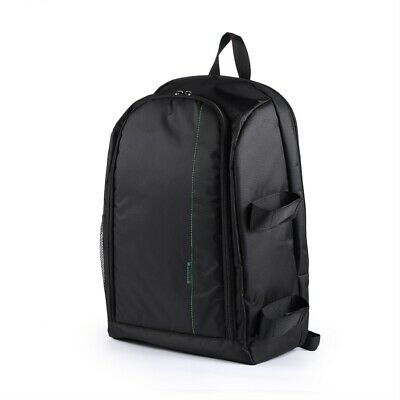 Black DSLR Camera Bag with Rain Cover Backpack Video Photo Bags for Camera LQ