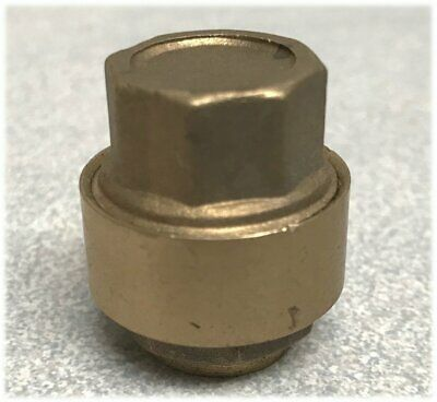 15mm Brass Push Fit Stop End Cap for 15mm Copper Pipe Tube