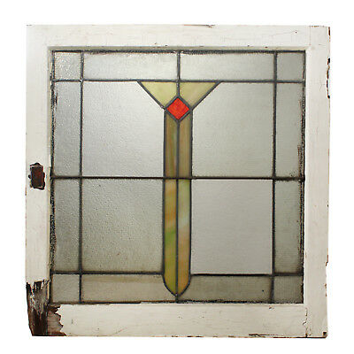 Antique American Arts & Crafts Stained Glass Window, NSG219