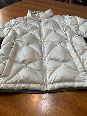 8a98320c4 WOMENS USED THE North Face 550 Red Belted Goose Down Hooded Puffer ...