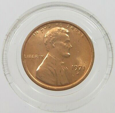 UNITED STATES CENT 1971 D LINCOLN TOP #alb35 527