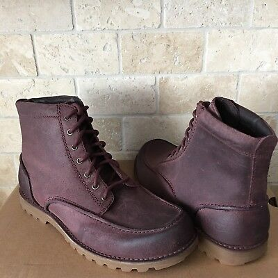 e198004158a UGG FALLBROOK MEN'S Lace-up Work Casual Leather Boots - New - UGGS ...