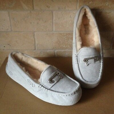 a9c169ff5 UGG Florencia Suede Grey Gray Violet Bling Moccasins Slippers Size US 7  Womens