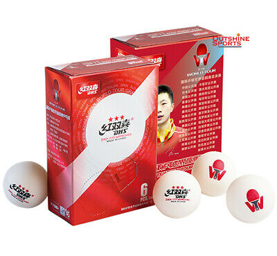 DHS D40+ 3 Star Table Tennis Ball 6pcs, ITTF World Tour Version