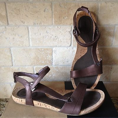 1d6c27050c1a Teva Capri Universal Perlized Chocolate Leather Strappy Sandals Size 10  Womens