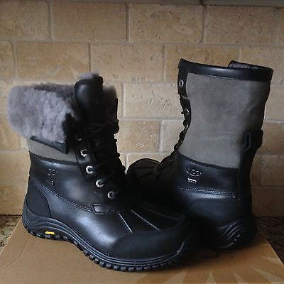 2d1d8e25fce UGG ADIRONDACK II Luxe Quilt Grey Gray Waterproof Snow Boots Size US ...