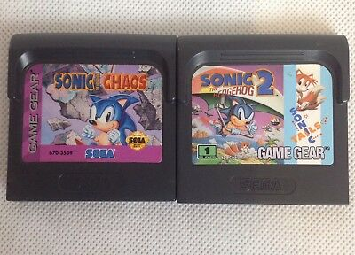 Sonic the Hedgehog Chaos and Sonic the Hedgehog 2, Tails Sega Game Gear Bundle