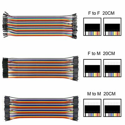 21cm F/F F/M M/M Dupont Wire Jumper Cable for Arduino Breadboard LQ
