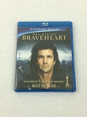Braveheart (Blu-ray Disc, 2009, 2-Disc Set, Sapphire Edition) Tested/Working VG