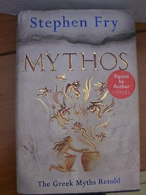 Mythos Book sighned by Stephen Fry in dust Jacket