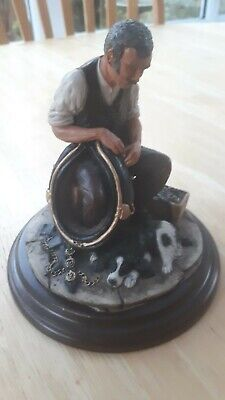 Ornament, Saddler/Draughtsman with Dog, Country Artists, 17cm