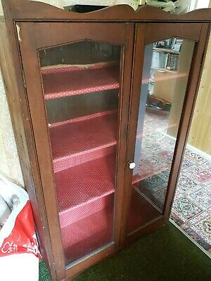vintage glass bookcase