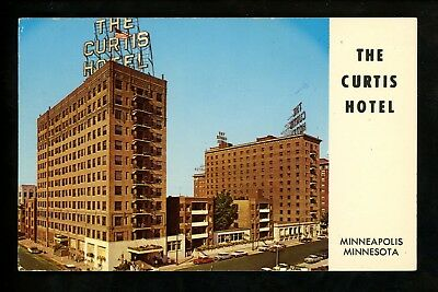 Minnesota MN postcard Minneapolis, The Curtis Hotel chrome